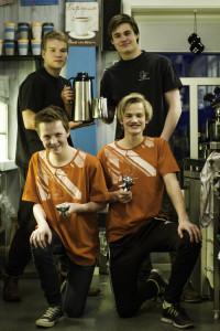Øverst fra venstre: Knut Brandsås og Mathias Sandnes. Nederst fra venstre Jonas Nøvik Aas og Lars Brandsås.